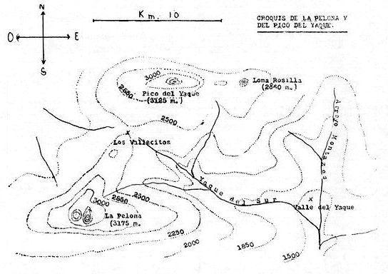 Croquis de La Pelona y el Pico del Yaque