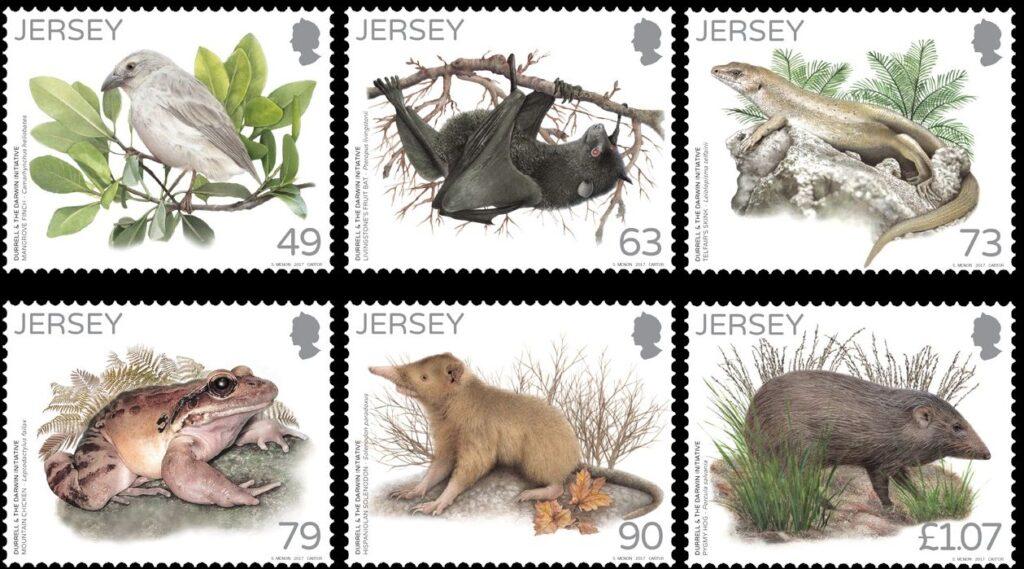 Sello de Jersey - 25 años de la iniciativa Darwin
